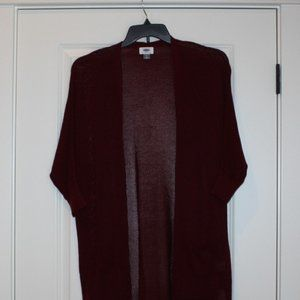 Old Navy Cardigan Burgundy Size Medium